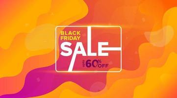 svart fredag försäljning banner design