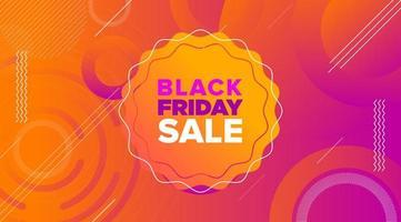 svart fredag försäljning banner design vektor