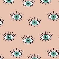 Augen nahtlosen Musterhintergrund vektor