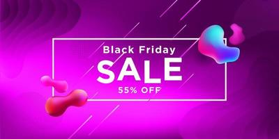 svart fredag försäljning rosa banner design