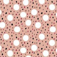 rosa nahtloses Muster mit Tupfen vektor