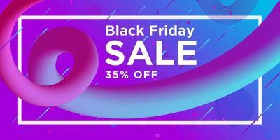 svart fredag försäljning virvel banner design