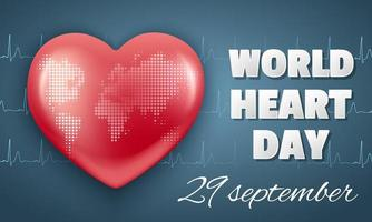 världen hjärtat dag banner