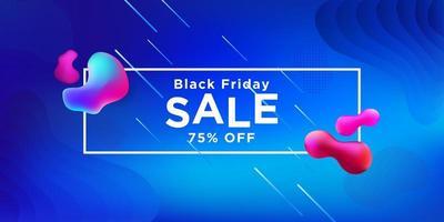 svart fredag försäljning blå banner design