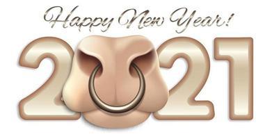 gott nytt år för oxen, 2021 vektor