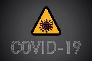 covid-19, coronavirus tecken.