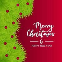 Frohe Weihnachten und Neujahr Hintergrund vektor