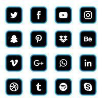 Social-Media-Symbole vektor