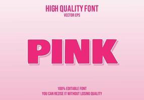 rosa redigerbar texteffekt