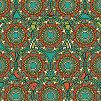 blommig mandala design bakgrund vektor