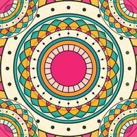 kreativer Mandala Hintergrund vektor