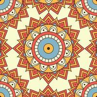farbiger nahtloser Musterhintergrund des Mandalas vektor
