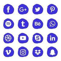 sociala medier ikonuppsättning
