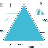 blauer Memphis-Stil in quadratischer Größe. vektor