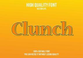 Clunch bearbeitbarer Texteffekt vektor