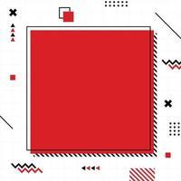 röd memphis-stil i kvadratstorlek.