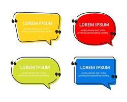 samling av pratbubblor med meddelanden