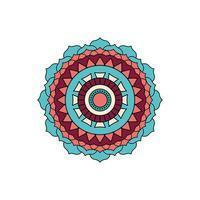 türkisfarbenes Mandala-Design vektor
