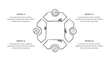 Doodle-Stil Geschäftszyklus Infografik vektor