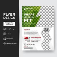 Fitness-Studio Flyer vektor