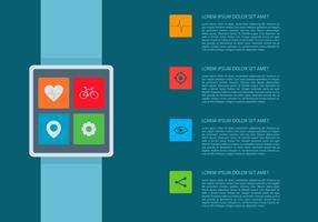 Herzfrequenz Smartwatch Infografische Vorlage vektor