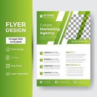 Corporate Flyer Design-Vorlagen hellgrün vektor