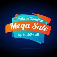 glücklich Raksha Bandhan Verkauf Banner vektor