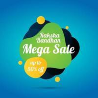 Raksha Bandhan großen Verkauf Banner vektor
