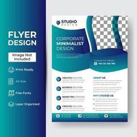 Flyer Broschüre Broschüre Cover Design Layout vektor