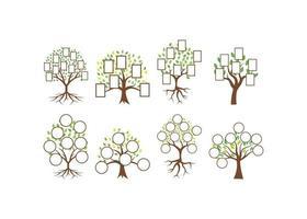 Baumfamilie Vorlage vektor