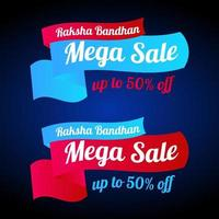 Verkauf Banner Rakhi Mega Verkauf Angebot vektor
