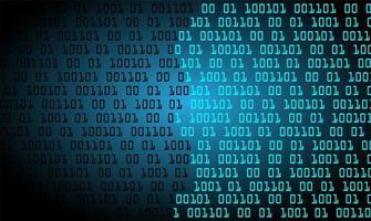 blauer binärer Cyber-Schaltungszukunftstechnologiehintergrund vektor