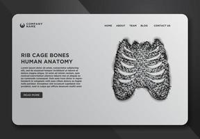 webbdesignmall med revben vektor