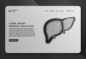 Webseiten-Design-Vorlage mit Leber vektor