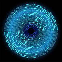 Blue Eye Cyber Circuit Zukunftstechnologie Hintergrund vektor