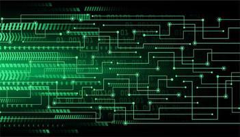 Hintergrund des zukünftigen Technologiekonzepts der grünen Cyberschaltung vektor