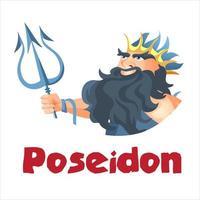 altgriechischer Gott Poseidon vektor
