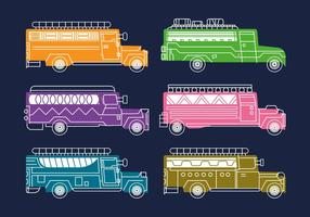 Kostenlose Jeepney Vektor-Illustration vektor