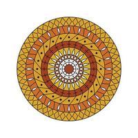 gelb-orange Mandala vektor