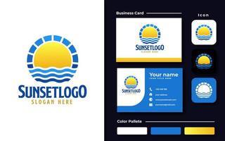 Sonnenuntergang Logo Vorlage