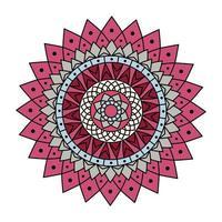 rosa färgad mandala vektor