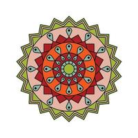 indisch gefärbtes Mandala vektor