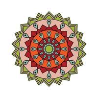 indisk färgad mandala vektor