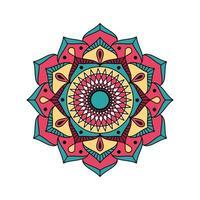 einfaches dekorativ gefülltes Mandala vektor