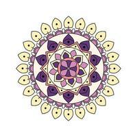 färgad ljuslila mandala vektor