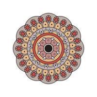 indisk dämpad färg mandala design vektor
