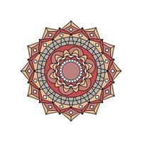 braunbraun retro farbiges Mandala