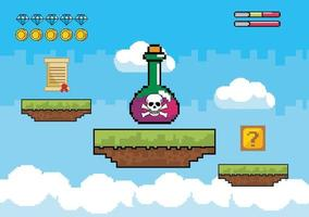 Videospielszene mit Gift