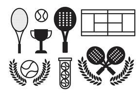 Kostenlose Padel Tennis Vektor