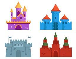 Satz von verschiedenen Burgen.